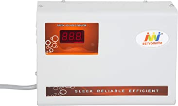 Servomate 4KVA (175v-260v) Automatic Voltage stabilizer for 1.5 ton ac, (100% Copper), Wall Mount Model, Color Ivory & Orange