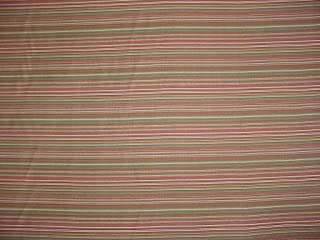 68H10 - Mint Green / Sage / Sienna / Moss Satiny Pin Stripe Upholstery Drapery Fabric - By the Yard