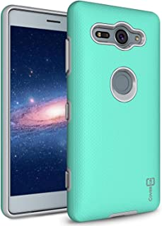 Sony Xperia XZ2 Compact Case Cover, CoverON, Slim Armor with Slim Dual Layer, Mint Teal