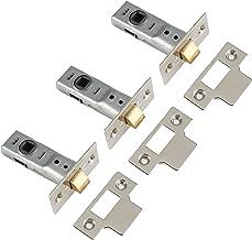 Yale Locks 3PM888CH2 inbouwgrendel, 6,4 cm, verchroomd, 3 stuks