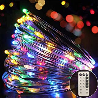 Ever smart Led String Lights, Led String Wireless Remote Control Waterproof Battery String Lights 120 LED 39 Ft, Warm Whit...