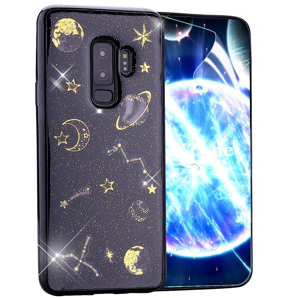 OKZone Funda Samsung Galaxy S9 Plus, [Serie Noche Estrellada] Cárcasa Brilla Glitter Brillante TPU Silicona Parachoque Teléfono Smartphone Funda Móvil Case para Samsung Galaxy S9 Plus: Amazon.es: Electrónica