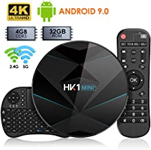 Android 9.0 TV Box 【4GB RAM 32GB ROM】 Dual-WiFi 2.4G/5.0G Android Box RK3318 Quad-Core Cortex-A53 64Bits BT 4.0 3D 4K Ultra HD H.265 USB 3.0 Smart TV Box