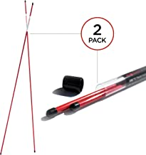 SHAUN WEBB Golf Alignment Sticks. Practice Rods, Training Accessories and Equipment, Aiming, Putting, Full Swing Trainer, Shoulder, Hip and Posture Corrector with Clear Tube Case. Best Golfer Gift