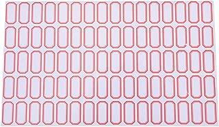 Oteshina 60sheets 4800pcs Mini Handcraft Blank Label Plain White Self Adhesive Bookmarks Sticker Labels Tags - Round Inkjet Chalkboard Maker Rectangular Brown Remover Printable Full Ta