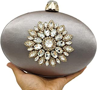 Boutique De FGG womens MIL0397 Flower Evening Bags