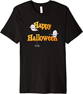 Halloween Happy Ghost Spider, Hoodie back,Tuatim Premium T-Shirt