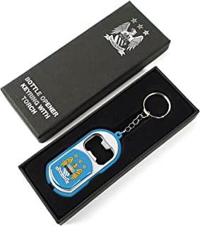 Manchester City Unisex Torch Light Bottle Opener Keyring, Multi-colour