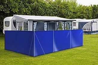 ! Windscherm inkijkbescherming camping van vrachtwagenzeil (autozeilkwaliteit) stabiel met lussen & ogen