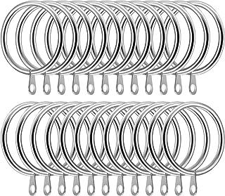 SelfTek 24 Piezas Anillos de cortina de metal Diámetro interno de 42 mm Cortina grande Cubre los anillos de varilla de poste