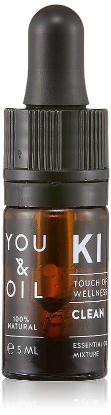 バドミントンするだろう長方形YOU&OIL(ユーアンドオイル) ボディ用 エッセンシャルオイル CLEAN 5ml
