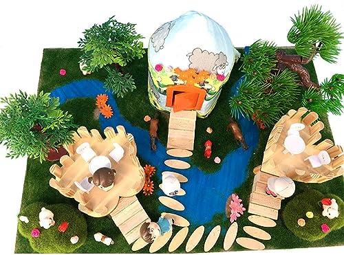 Peggy Gu Kinder Spielzeug Puppenhaus mit M ln Fancy Wooden Building Blocks montiert DIY ger Geb e Modell Spielzeug kreative Geschenk für Jungen und mädchen Rollenspiel Kinder Spielzeug Geschenke