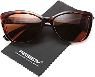 FEISEDY Polarized Vintage Sunglasses American Square...