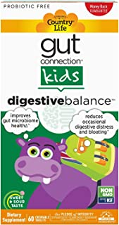 Country Life, Gut Connection Kids – Digestive Balance, Improves Gut Microbiome Health and Reduces Occasional Digestive Dis...