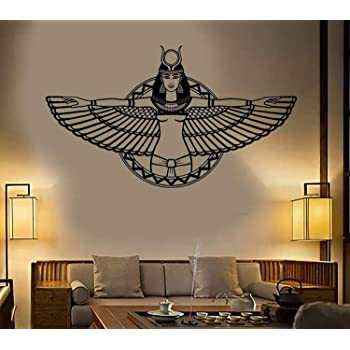 Amazon Com Ancient Egypt Queen Cleopatra Egyptian Wings Bedroom Living Room Home Decoration Art Mur Wall Decals Decor Vinyl Sticker Ir2523 W35 H20 Baby