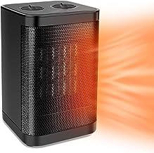 VIY Calefactor Eléctrico PTC, Calefactor de Aire Caliente, con Ahorro de energía de Alta Tecnología y Oscilación Automática y 3 Configuraciones de Temperatura, 10W/750W/1500W (Negro)