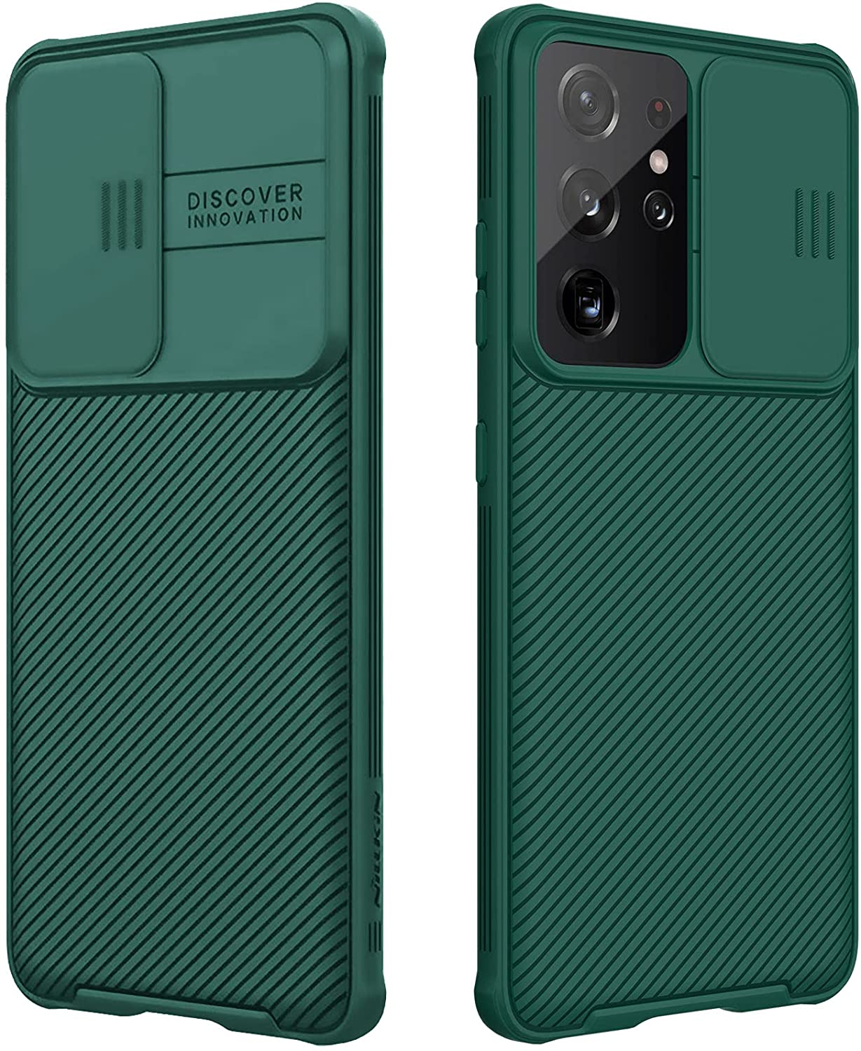 CloudValley for Samsung Galaxy S21 Ultra Case with Camera Cover, Full-Body Protective & Slim Fit, Camera Protection Case Only for Samsung Galaxy S21 Ultra 5G 6.8 inch (2021 Release)-Green