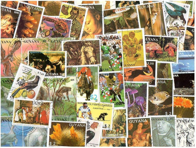 Pghstamps Guyana 500 Francobolli Differenti Collezione per Collezionisti