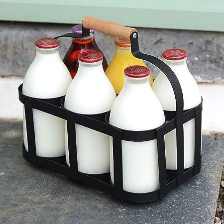 SupaHome Retro Traditional Door Step 6 Milk Bottle Holder Holds 6 Milk Bottles