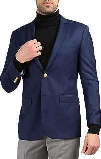 Men's Warwick Gold Button Slim Fit Blazer