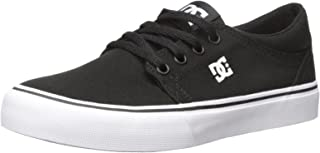 DC Womens Trase TX Skate Shoe, Black/White, 10.5 M US