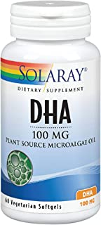 Solaray DHA Neuromins, Vegan Softgel (Btl-Plastic) 100mg 60ct