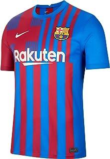 Camisa Barcelona Home 21/22 s/nº Torcedor Masculina - Vermelha e Azul