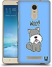Head Case Designs Schnauzer Happy Puppies Hard Back Case Compatible for Xiaomi Redmi Note 3 / Pro