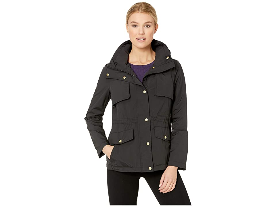 Cole Haan Travel Packable Zip Front Jacket with Front Placket and Snaps (Black) Women