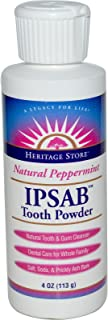 Heritage Store IPSAB Tooth Powder, Natural Peppermint, 4 oz (113 g)