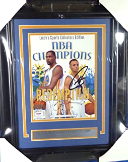 Stephen Curry   Kevin Durant Autographed Framed Magazine Golden State  Warriors PSA DNA  AD28630 28d076777