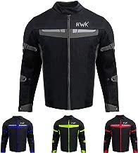 HWK Mesh Motorcycle Jacket Riding Air Motorbike Jacket Biker CE Armored Breathable (X-Large, Black)