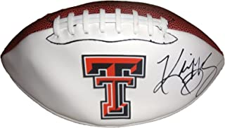 Kliff Kingsbury Autographed Texas Tech Red Raiders Logo Football W/PROOF, Picture of Kliff Signing For Us, Texas Tech Red Raiders, NFL Draft, Texas Tech Red Raiders, Arizona Cardinals, Guns Up