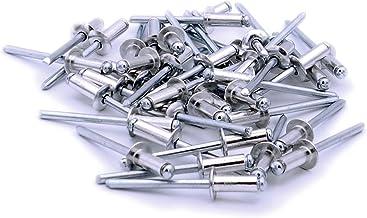 100 4.0mm x 8mm Pop blind rivets aluminium steel//shaft 4.0 x 8.