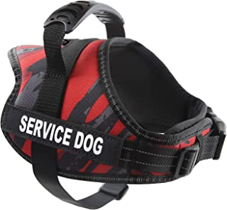 """pawshoppie Real Reflective Service Dog Vest Harness 2 Free Removable Service Dog 2 """"Emotional Support"""" Patches, Woven Poly..."""