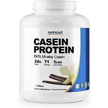 Nutricost Casein Protein Powder 5lb Vanilla - 100% Micellar Casein