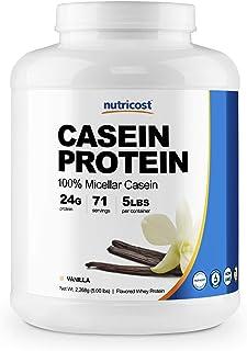 Sponsored Ad - Nutricost Casein Protein Powder 5lb Vanilla - Micellar Casein, Gluten Free, Non-GMO