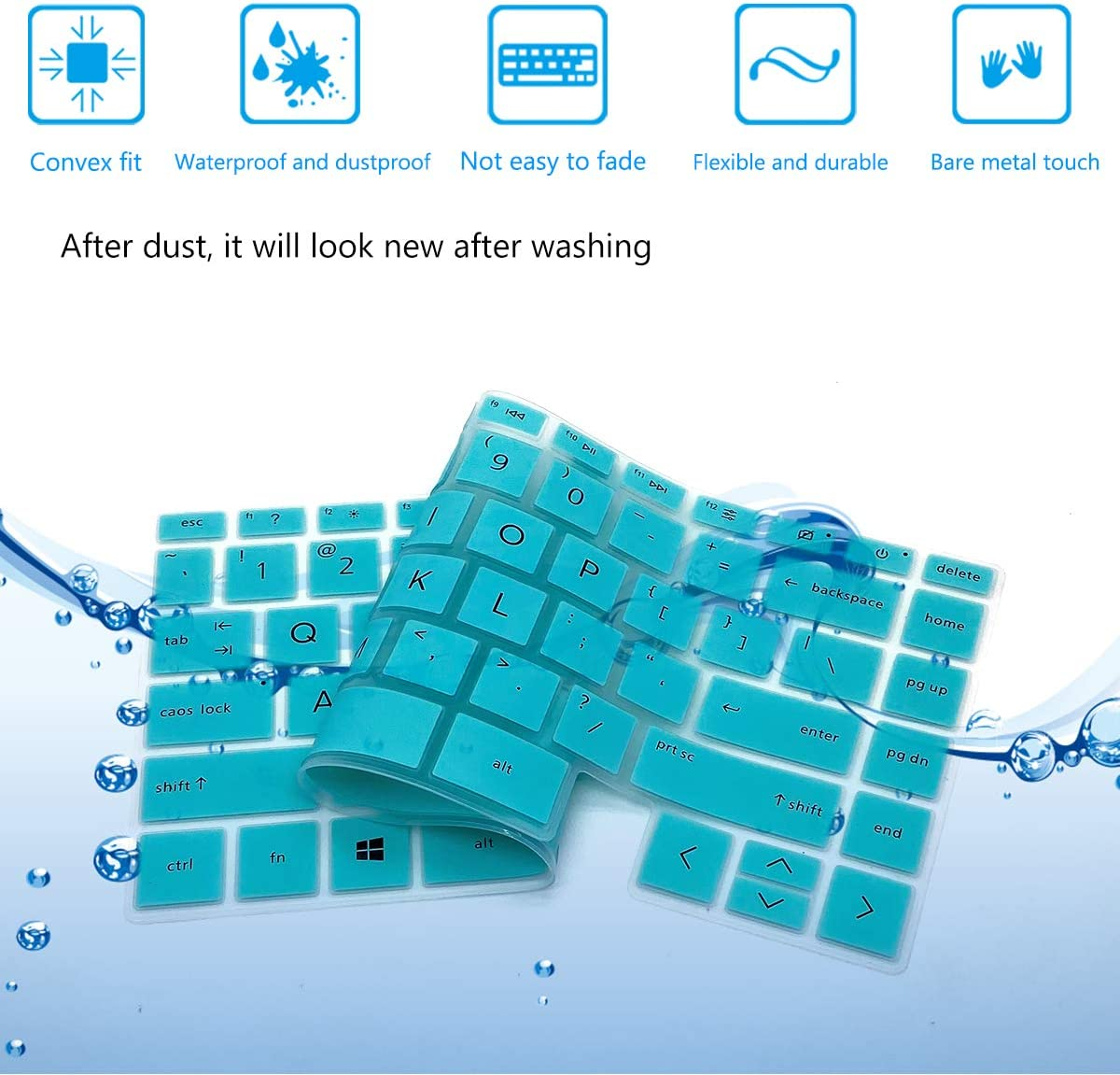 2PCS Keyboard Cover for HP Envy x360 13 2-in-1 Fingerprint Reader(No Numeric Keypad) HP Envy 14 14t/14-ebxxxx Series 14t-eb000 14-eb0010nr eb0003ns, HP Envy 13/13t-ba 13/13m-bd 13/13z-ay Series