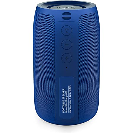 Bluetooth Speaker,MusiBaby Speaker,Outdoor Portable,Waterproof,Wireless Speakers,Dual Pairing,Bluetooth 5.0,Loud Stereo Booming Bass,1500 Mins Playtime for Home&Party (Blue)