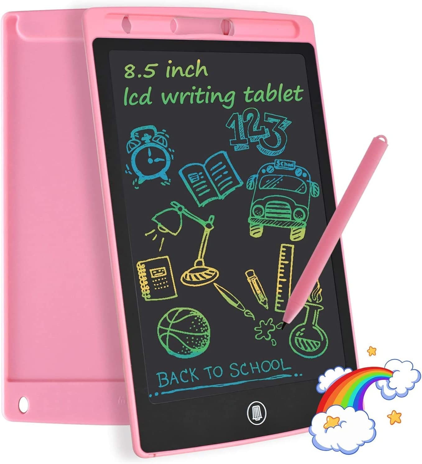 YOUNGRAYS 8.5Inch LCD Writing Tablet, LCD Drawing Board Doodle Board Handwriting Board for Kids(Pink)