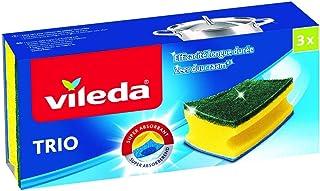 Vileda - Estropajo Salvauñas 2 + 1, 3 unidades, estropajo