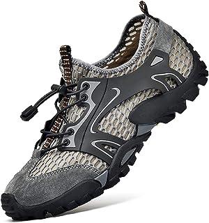 Abimy Zapatillas de deporte al aire libre para hombre Zapatos de agua de malla transpirable Slip on pisos Casual antidesli...