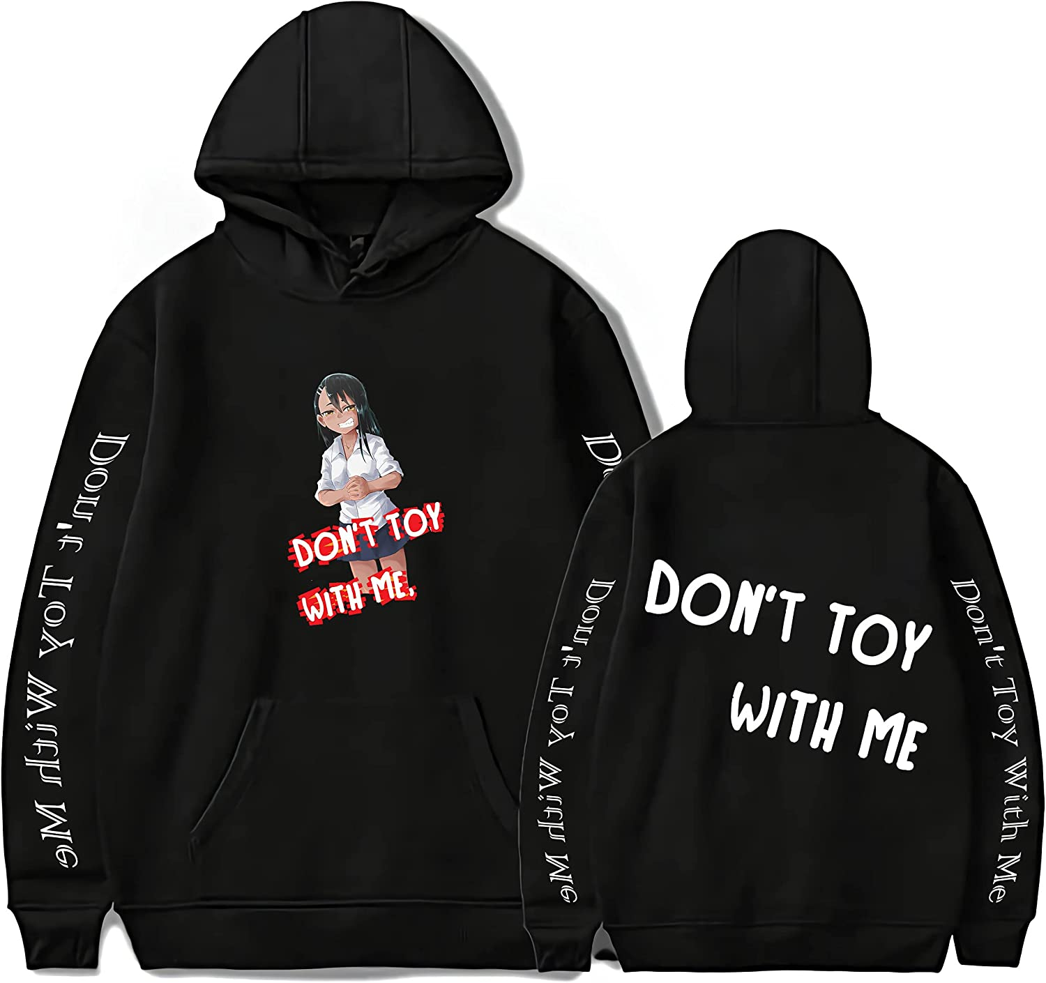 Jingclor Unisex Anime Don't Toy With Me, Miss Nagatoro Hoodie Sweatshirt Pullovers Hooded hoodies For Adult/Yonth