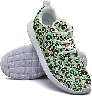 Leopard Cheetah Print Brown Walking Shoes for Womens Customize Non-Slip Running Shoes Girls