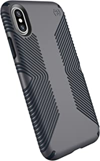 Speck Products Presidio Grip Case for iPhone XS/iPhone X, Graphite Grey/Charcoal Grey