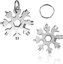 18-in-1 Roestvrijstalen Sneeuwvlokken Multi-tool, Draagbare Sleutelhanger Schroevendraaier Voor Buiten, Flesopener Voor Ke...