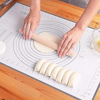 Limnuo Tapis de cuisson en silicone antiadhésif Grand extra épais avec mesures 50,8 x 40,6 cm 16x20 gris