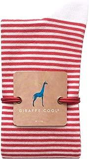Giraffe Cool Calcetín para Hombre de Color Rojas lineas Blancas