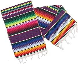 M MISS FANTASY Mexican Serape Table Runner Cinco De Mayo Decorations Blanket Fiesta Table Runner