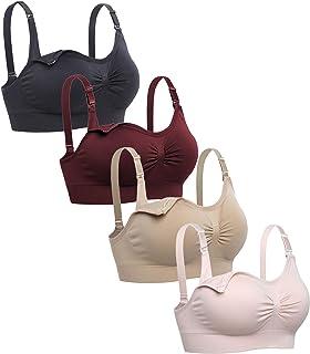 Lataly Womens Sleeping Nursing Bra Wirefree Breastfeeding Maternity Bralette Pack of 4